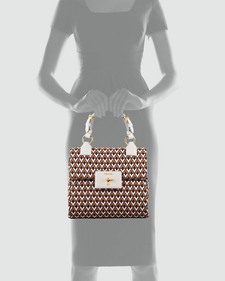 Top Handle Jacquard Bag