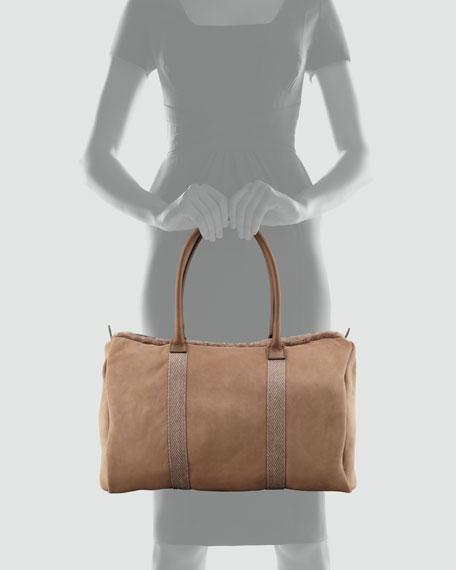 Shearling-Lined Duffel Bag, Fango