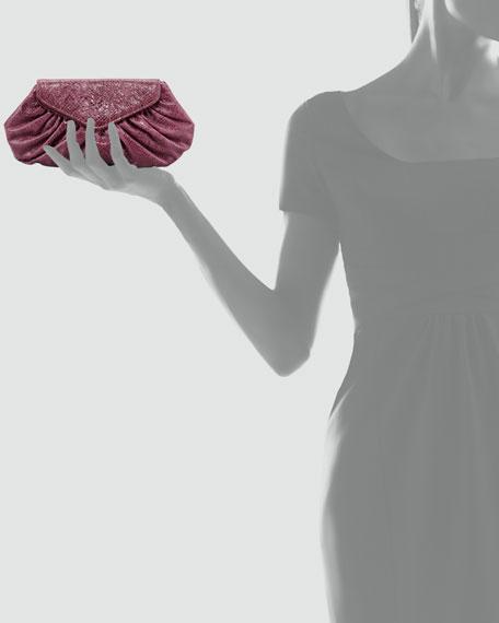 Diana Python-Embossed Pouchette
