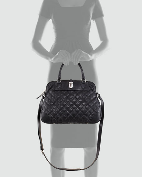 Quilted Whitney Dome Satchel Bag