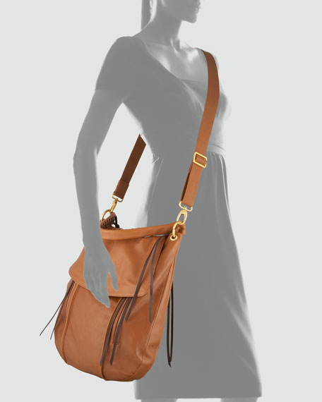 Adrienne Crossbody Hobo Bag, Tobacco