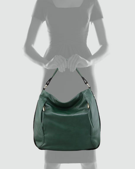 Kipton Braided Hobo Bag, Green