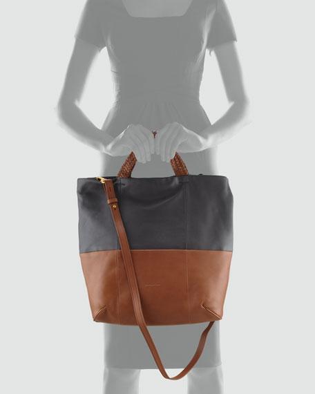 Jordie Two-Tone Satchel Bag