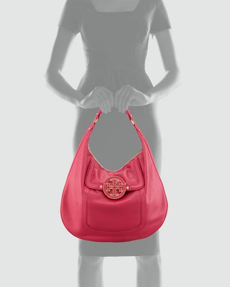 Amanda Flat Hobo Bag, Magenta