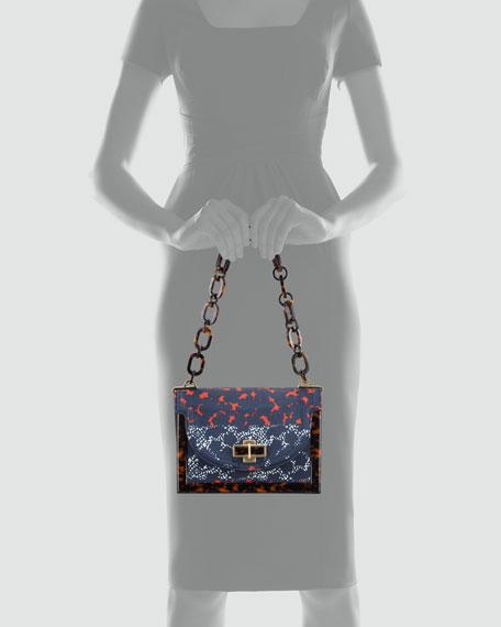 Resin-Framed Small Shoulder Bag, Normandy Blue