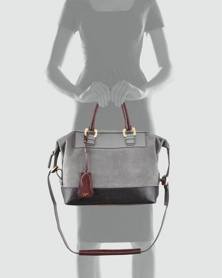 Drew Colorblock Satchel Bag