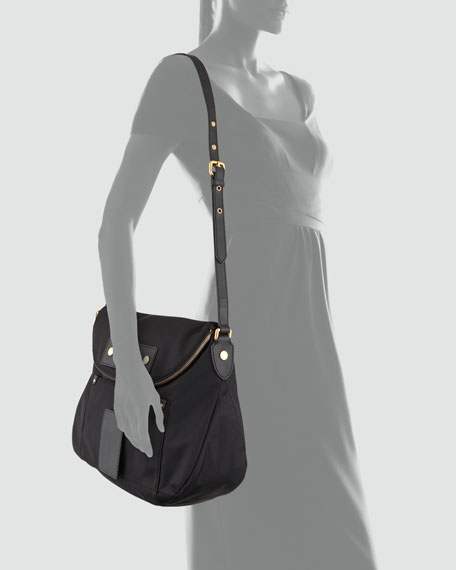Pretty Nylon Sasha Shoulder Bag, Black