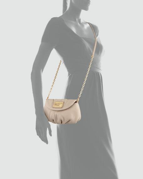 Karlie Crossbody Pouch Bag, Creme