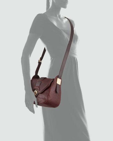 Eve Small Saddle Bag, Red