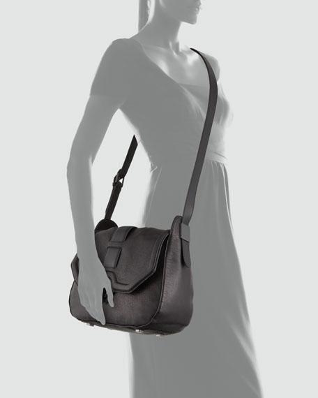 Eve Large Saddle Bag, Black