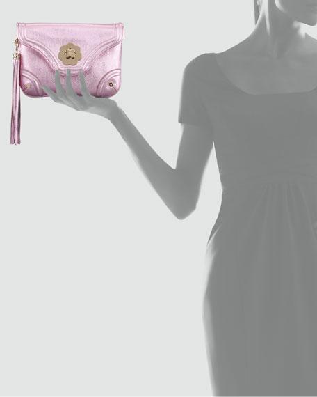 Metallic Mini Clutch Bag, Rose