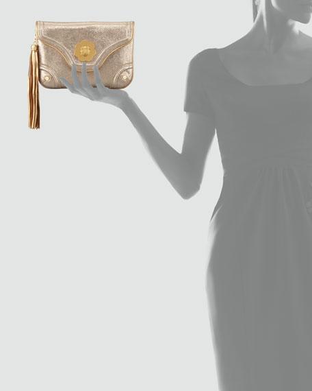 Metallic Mini Clutch Bag, Gold