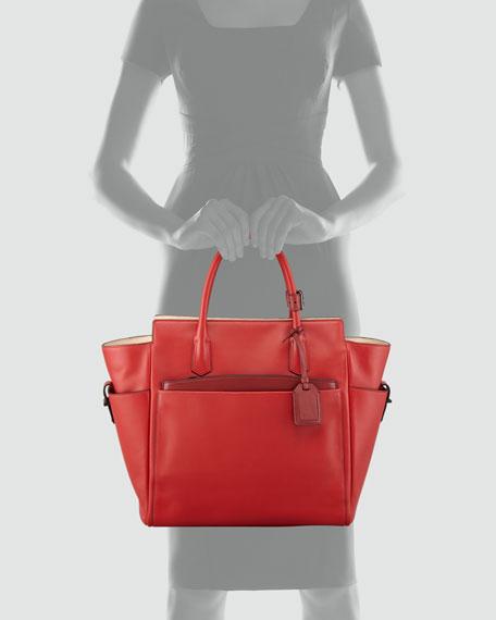 Atlantique Tote Bag, Crimson Red