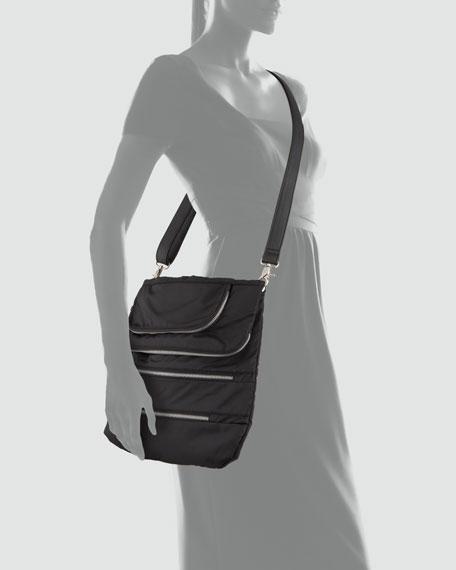 Haylee Zip Crossbody Bag, Black
