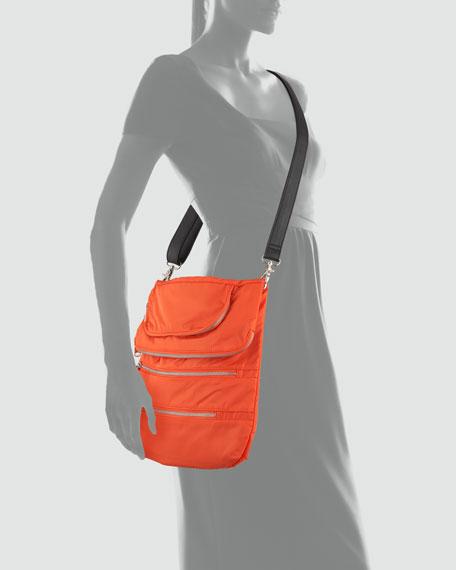 Haylee Zip Crossbody Bag, Orange