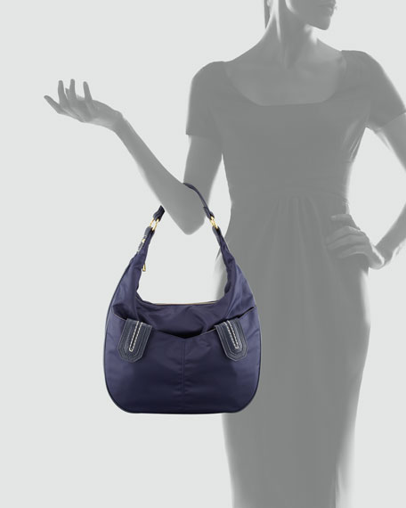 Lissie Nylon Hobo Bag Navy