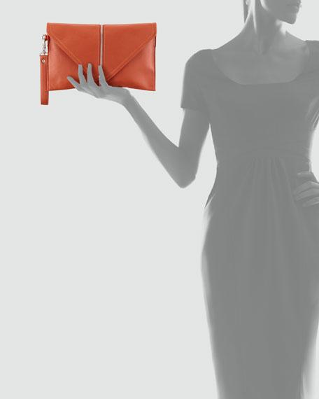 Ryder Zip-Trim Wristlet Bag, Orange