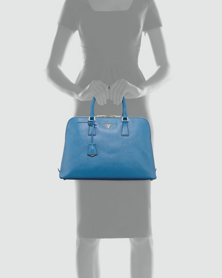 Saffiano Large Tote Bag, Cobalt Blue