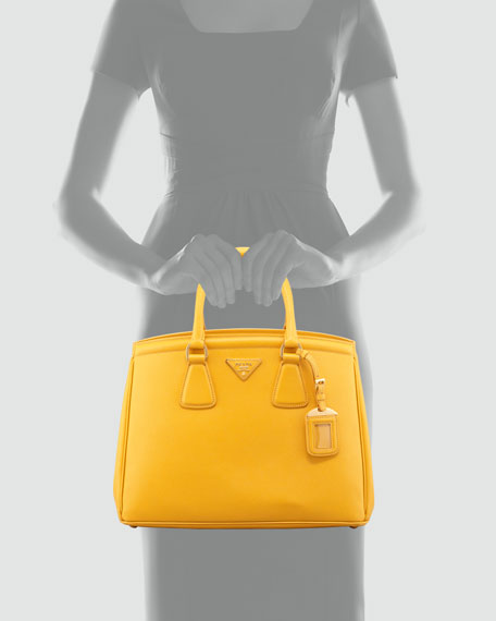 Saffiano Parabole Medium Tote Bag, Yellow