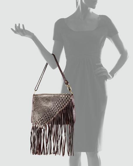 Inez Flap-Top Crossbody Bag, Chocolate