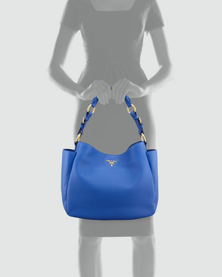Daino Double-Pocket Hobo Bag, Bright Royal