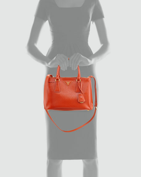 Saffiano Executive Small Tote Bag, Dark Orange