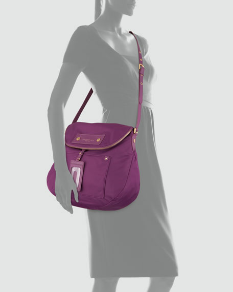 Preppy Nylon Sasha Crossbody Bag, Violet