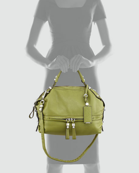 Holly Slouchy Satchel Bag, Green