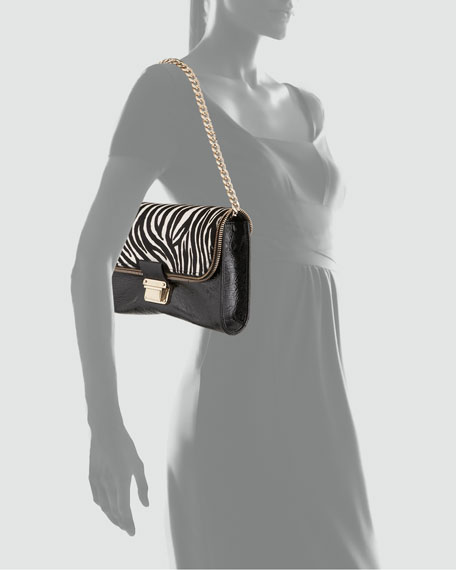 Mini Lou Zebra-Print Shoulder Bag