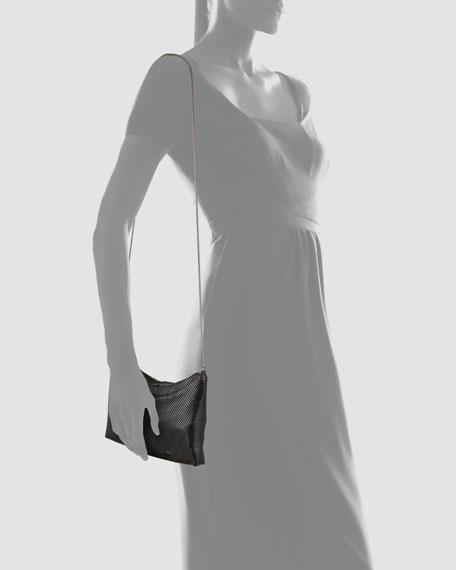 Brooke Metal Mesh Shoulder Bag, Black