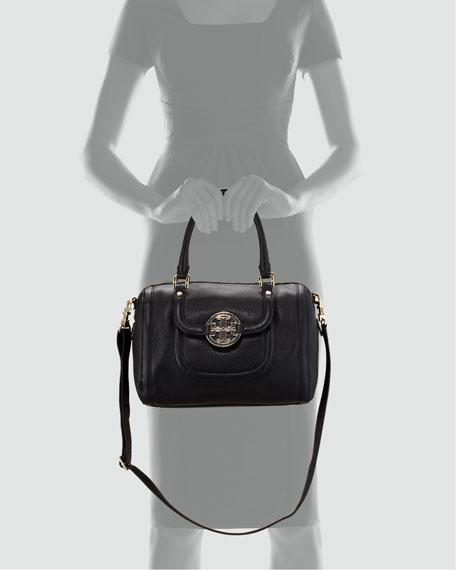 Amanda Middy Satchel Bag, Black