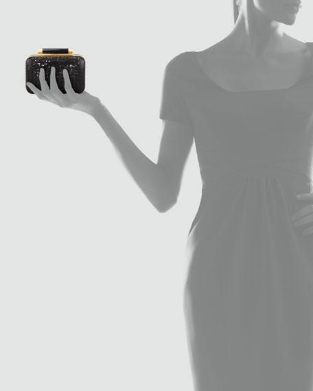 Tonda Chain Maille Small Clutch, Black