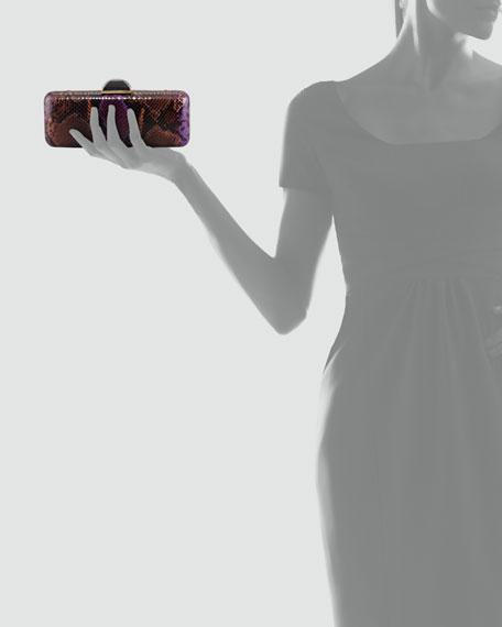 Jessica Python-Embossed Minaudiere