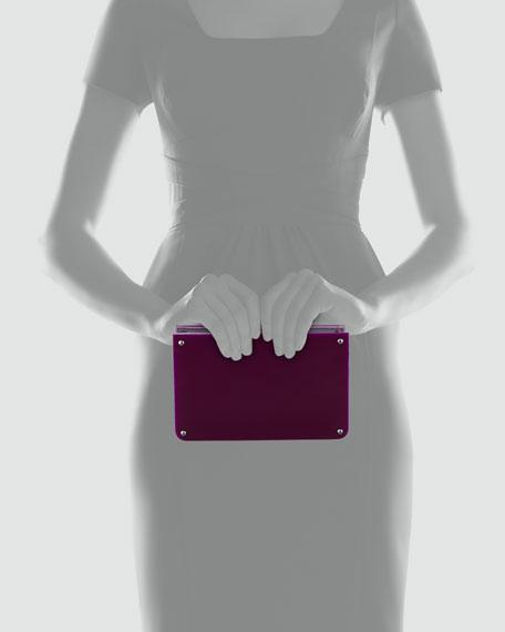 Alexis Frame Clutch, Purple