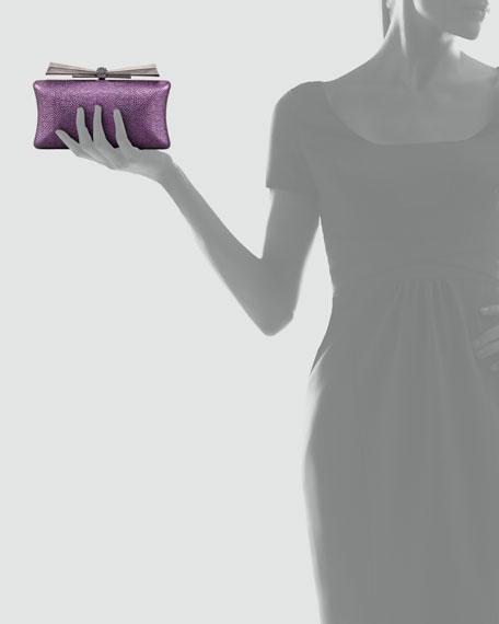 Megan Cylinder Minaudiere, Plum