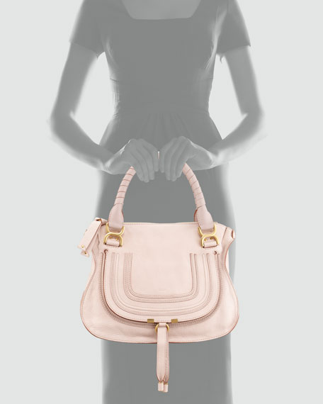 Marcie Small Satchel, Light Pink