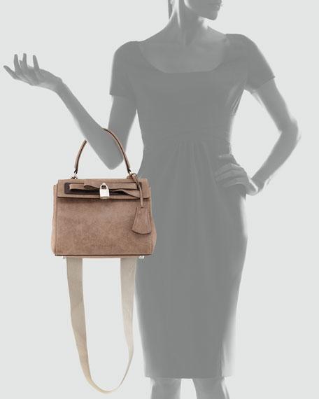 Small Lock-Detail Handbag