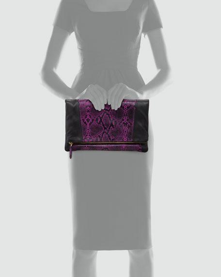 Nixie Clutch Bag, Purple