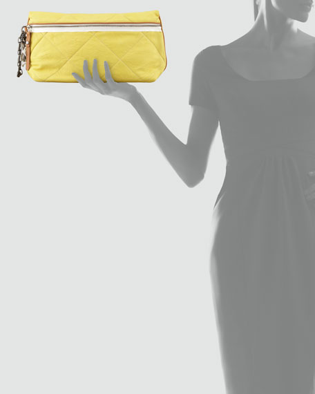 Amalia Quilted Clutch Bag