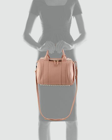 Rockie Small Crossbody Satchel Bag, Tan