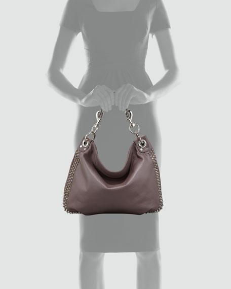 Luscious Mini Studded Hobo Bag, Lavender