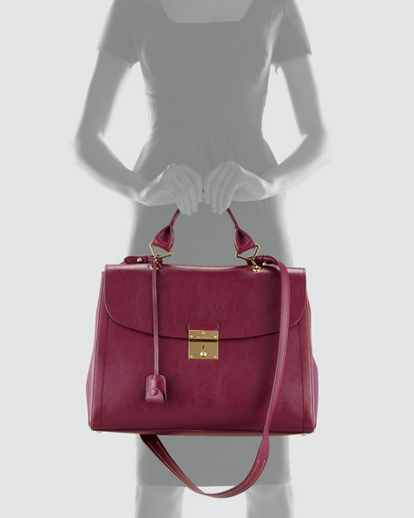 The 1984 Satchel Bag, Chianti Red