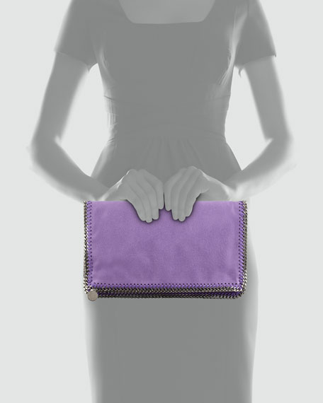 Falabella Fold-Over Clutch Bag, Purple