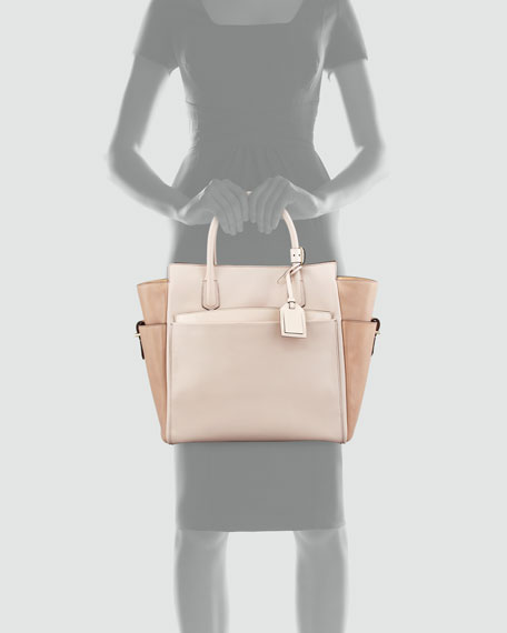 Atlantique Tote Bag, Multicolor Nude
