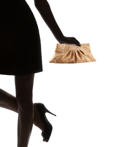 Louise Pleated Cork Clutch Bag