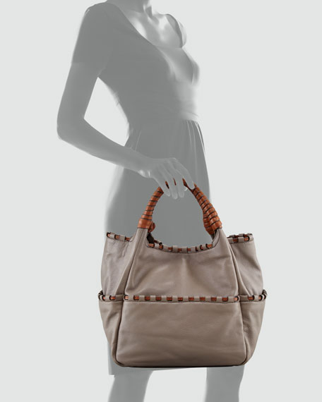 Aison Pebbled Leather Tote Bag