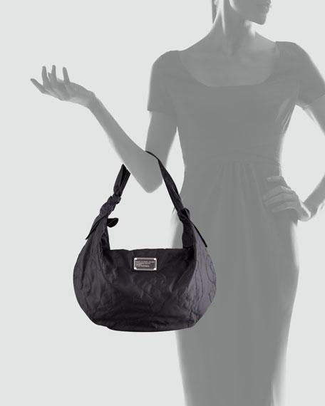 Pretty Little Nylon Hobo Bag, Black