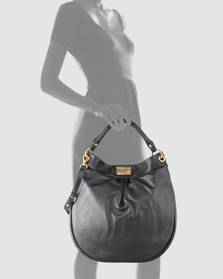 Huge Hillier Hobo Bag, Black