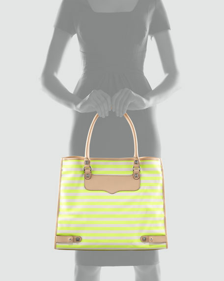Striped Diamond Tote Bag