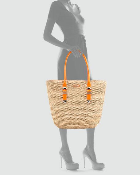 Boyfriend Raffia Tote Bag